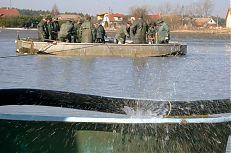 Pohled na jádření ryb na rybníce Jamský.