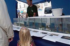 Výstava živých ryb školy z Vodňan.