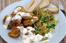 Hotový pokrm z vnitřností kapra - smažené mlíčí a jikry