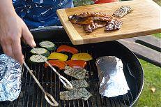 Grilované marinované kapří maso